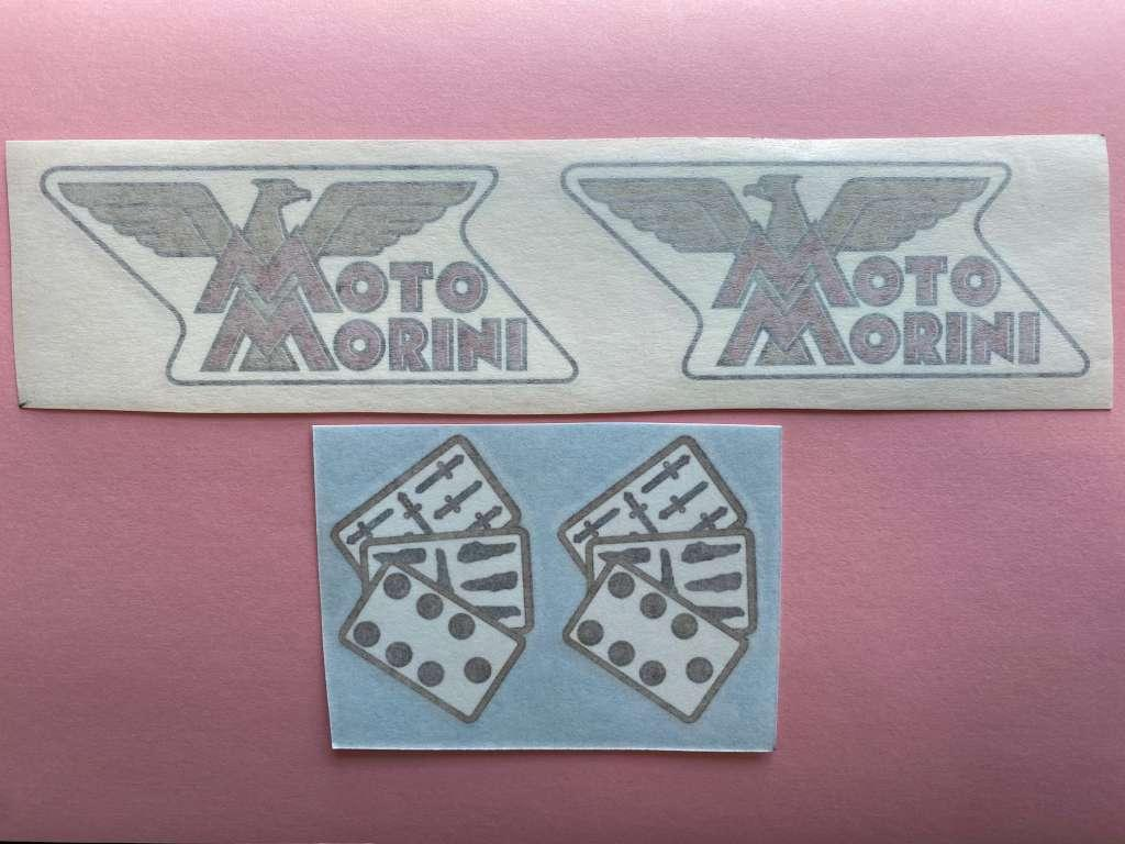 Stickers Kit Logos Motorcycle Morini 175 Tresette