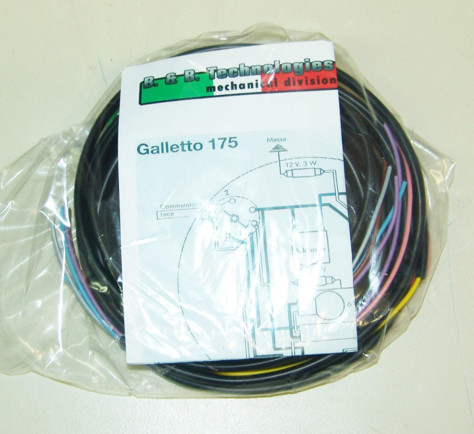 Schemi Elettrici Guzzi : Impianto elettrico electrical wiring moto guzzi galletto