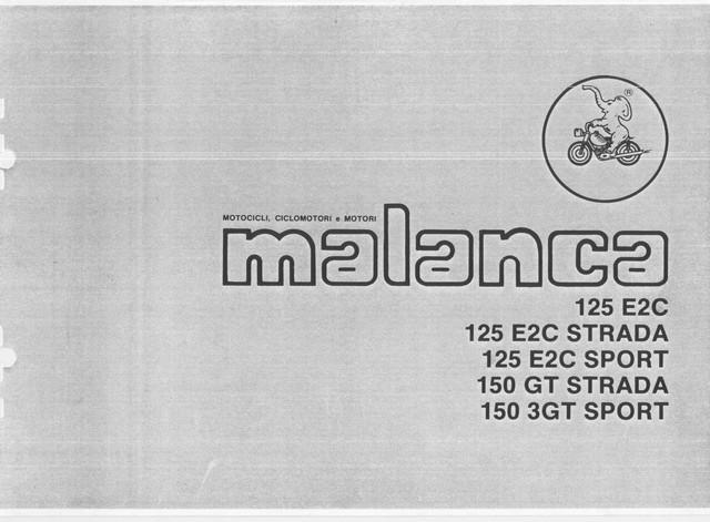 SPARE PARTS MANUAL MANUALE MALANCA 125 E2C SPORT STRADA