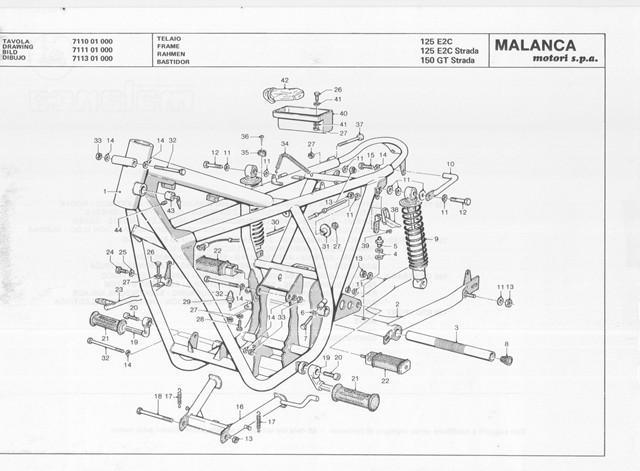 SPARE PARTS MANUAL MANUAL MALANCA 125 E2C SPORT STRADA 150