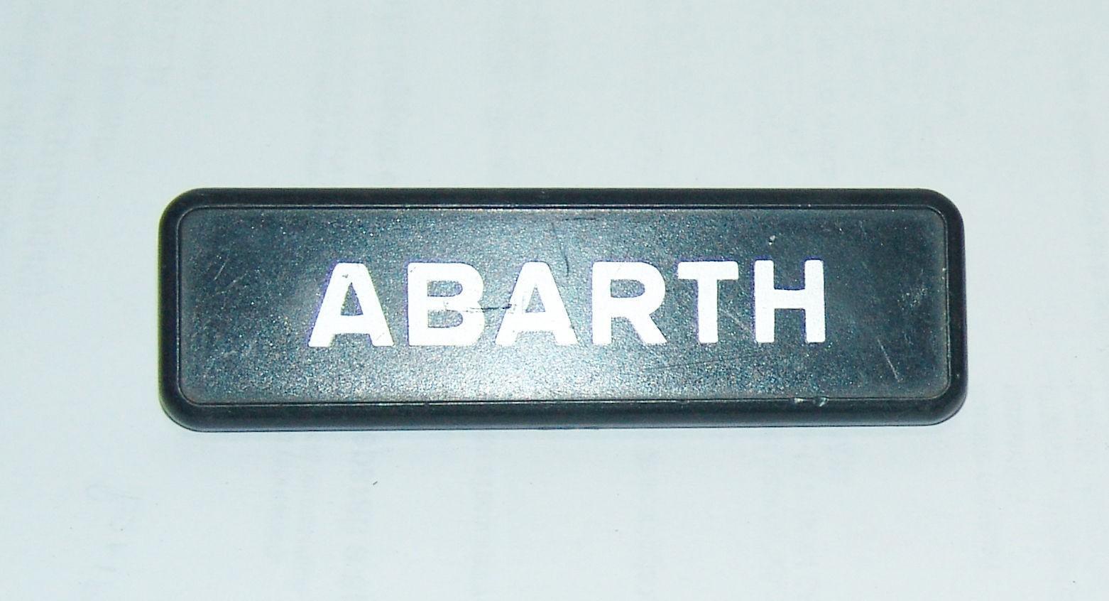 stemma scritta ABARTH AUTOBIANCHI A112 LATERALE sigla sign emblem LOGO SCHRIFT